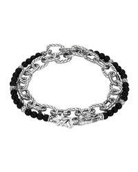 John Hardy | Metallic Lapis Lazuli Beads & Chain Wrap Bracelet | Lyst