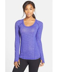 Zella | Purple 'breathless' Long Sleeve Tee | Lyst