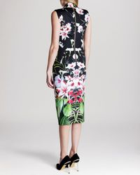 Ted Baker - Black Dress - Jalita Mirrored Tropics - Lyst