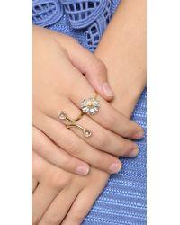 Alex Monroe | Metallic Big Daisy Ring | Lyst