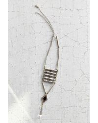 Vanessa Mooney - Metallic Viviane Silver Ladder Necklace - Lyst