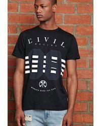 Forever 21 - Black Civil Moments Make The Man Tee for Men - Lyst