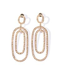 Ileana Makri | Pink White Diamond & Gold Double Hoop Earrings | Lyst