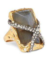Alexis Bittar | Metallic Rocky Labradorite Solitaire Ring | Lyst