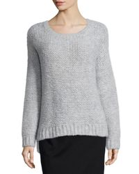 Eileen Fisher - Gray Fluffy Alpaca Cloud Sweater - Lyst
