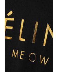 Brian Lichtenberg - Black Feline Cotton-jersey T-shirt - Lyst