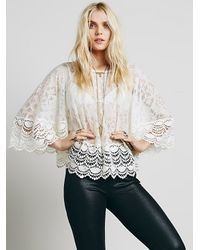 Free People | White Womens Secret Heart Embroidered Top | Lyst