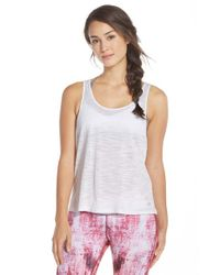 Alo Yoga | White 'Twist' Open Back Tank | Lyst
