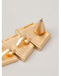 Eddie Borgo | Metallic Large Scaled Triangle Earrings | Lyst