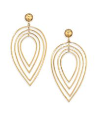 Vaubel - Metallic Tiered Leaf Drop Earrings - Lyst