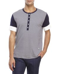 Moods Of Norway - Blue Baard Lind Striped Tee for Men - Lyst