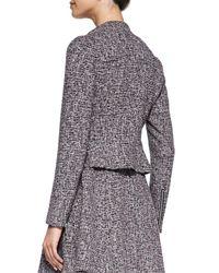 Theory Multicolor Kinde Front-Zip Tweed Jacket