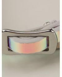 McQ - Multicolor Razor Blade Holographic Bracelet - Lyst