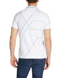 BOSS Green | Blue 'paule' | Slim Fit, Stretch Cotton Polo Shirt for Men | Lyst