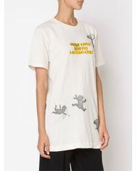 Bernhard Willhelm - White 3-d Lettered T-shirt - Lyst