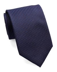 William Rast | Blue Textured Dot Tie for Men | Lyst