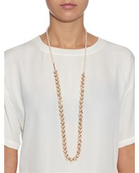 Eddie Borgo - Metallic Pearl And Rose-Gold Plated Necklace - Lyst
