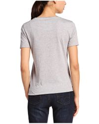 BOSS Orange | Gray T-shirt 'tishirt' With A Round Neckline | Lyst