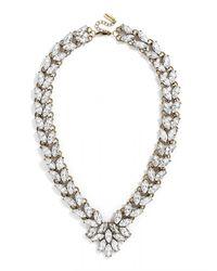 BaubleBar - Metallic Garland Brooch Collar - Lyst