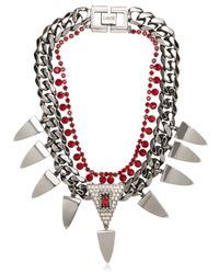 Mawi | Red Deco Prism Necklace | Lyst