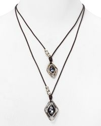 Uno De 50 | Metallic Harmonic Dual Layer Necklace, 16"