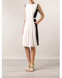 O'2nd - Black Combo Pleated Dress - Lyst