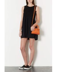 TOPSHOP | Orange Mini Double Handle Bag | Lyst