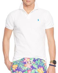 Ralph Lauren - White Polo Mesh Polo Shirt - Classic Fit for Men - Lyst