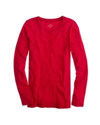 J.Crew - Red Tissue Long-sleeve T-shirt - Lyst
