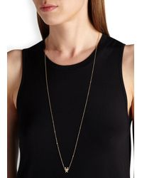 MFP MariaFrancescaPepe - Metallic Love Invader 23kt Gold-plated Necklace - Lyst