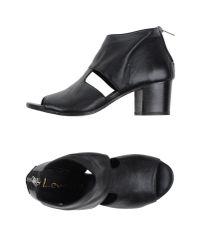 Lemarè - Black Sandals - Lyst