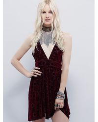 Free People | Purple Intimately Womens Just Jane Burnout Slip | Lyst