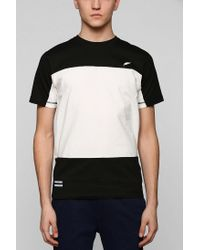 Timberland | Black Colorblock Stripe Tee for Men | Lyst