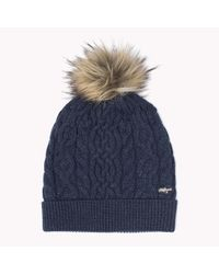 Tommy Hilfiger | Blue Wool Blend Sparkle Hat | Lyst