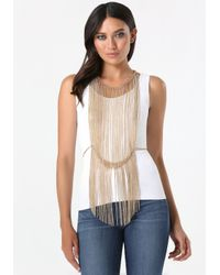 Bebe - Metallic Fringe Body Jewelry - Lyst