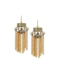 Alexis Bittar - Metallic Elements Navette Tassel Earrings - Lyst