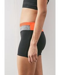 Forever 21 | Black Colorblock Yoga Shorts | Lyst