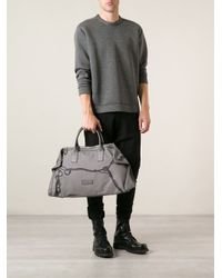 Alexander McQueen - Gray De Manta Printed Holdall Bag for Men - Lyst
