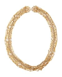 Stephen Dweck | Metallic Seven-strand Crystal & Bronze Necklace | Lyst