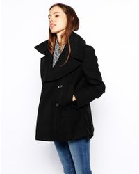 ASOS - Black Pea Coat - Lyst