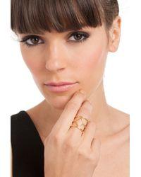 Trina Turk - Metallic Diamond Open Work Ring - Lyst