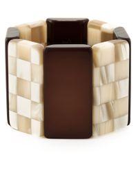 Giorgio Armani - Brown Checkerboard Contrast Cuff - Lyst