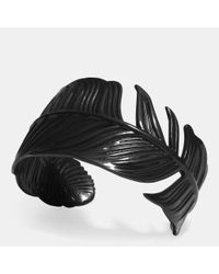 COACH | Black Feather Cuff | Lyst