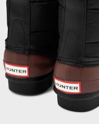 HUNTER - Black Women's Original Quilted Lace-up Boots - Lyst