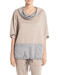 Midnight By Carole Hochman - Natural Cowl Neck Top - Lyst