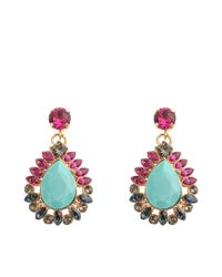 Anton Heunis | Blue Turquoise Zulu Goddess Earrings | Lyst