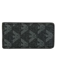 Emporio Armani - Gray Monogram Cardholder for Men - Lyst