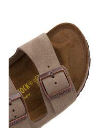 Birkenstock - Brown Arizona Soft Footbed Taupe Suede Sandals - Lyst
