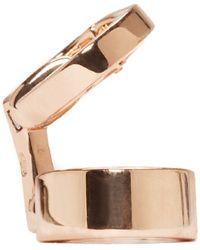 Repossi | Pink Rose Gold Double Berbere Ear Cuff | Lyst