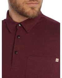 Farah | Red Regular Fit Wallingham Long Sleeve Polo Shirt for Men | Lyst